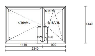 Plastikiniai langai ALUPLAST IDEAL4000RL