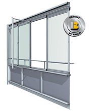 Balkonų stiklinimas berėmis sistemomis